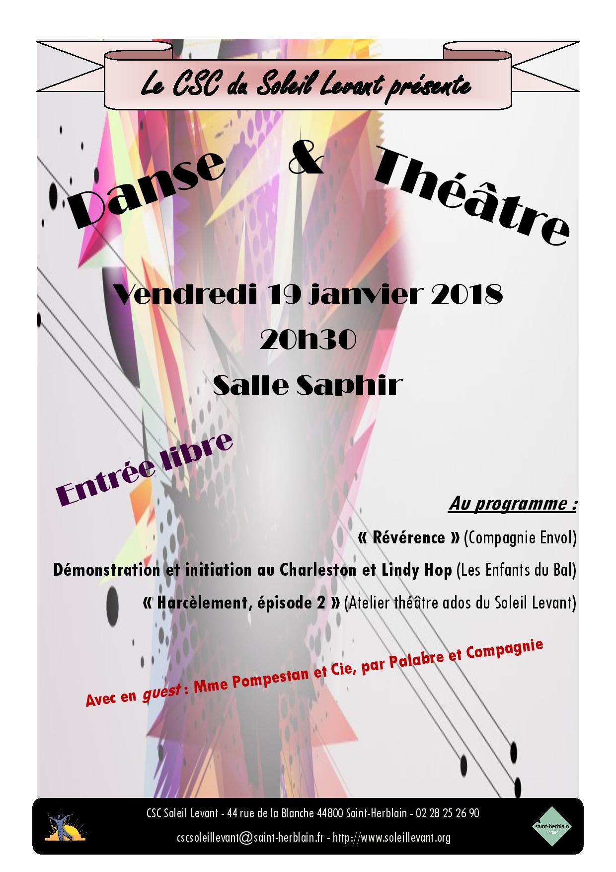 Danse & Théâtre @ CSC du Soleil Levant | Saint-Herblain | Pays de la Loire | France