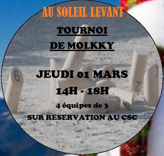 Tournoi de Molkky @ CSC du Soleil Levant | Saint-Herblain | Pays de la Loire | France