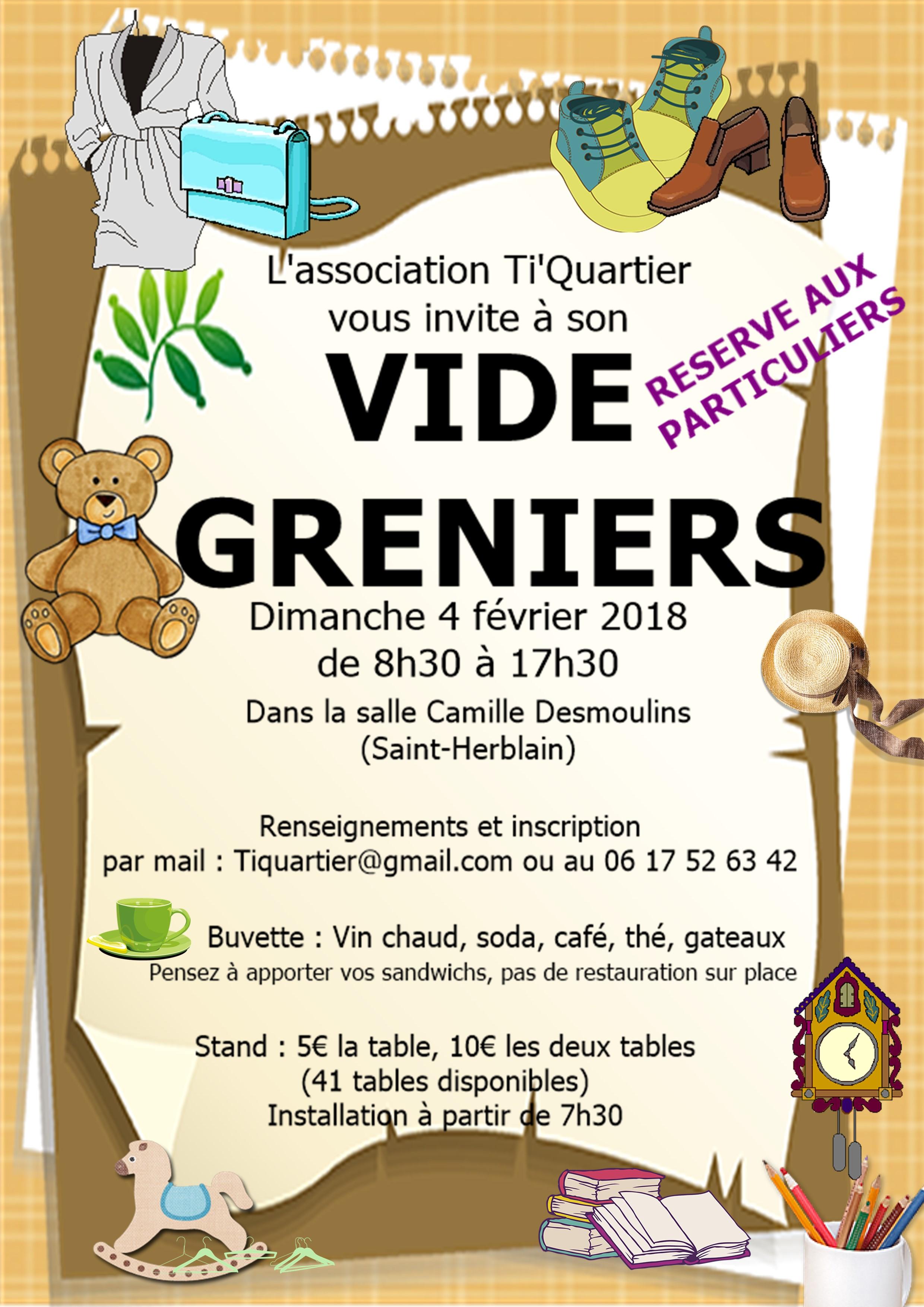 Vide Greniers du Ti'Quartier @ Salle Camille Desmoulins | Saint-Herblain | Pays de la Loire | France