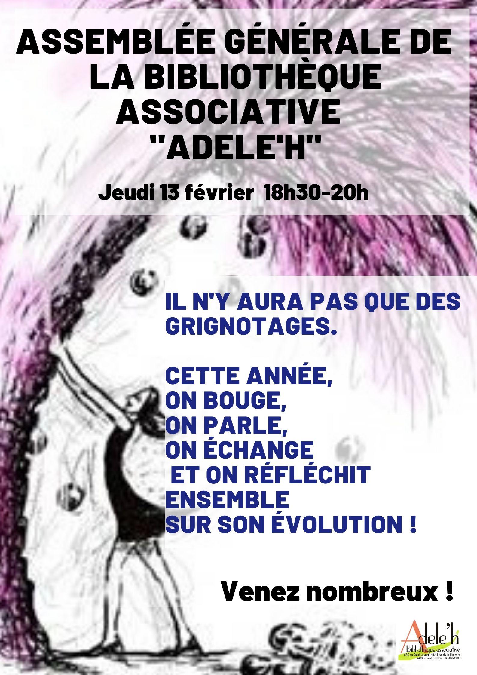 """Assemblée générale """"ADELE'H"""""""