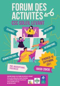 Forum des activités @ Au CSC du Soleil Levant