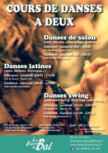 Cours de danses à deux avec les Enfants du Bal @ salle Camille Desmoulins (au Tillay)