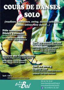 Cours de Danse Solo débutant avec Les Enfants du Bal @ au CSC du Soleil Levant
